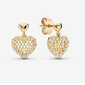 Pandora shine heart ❤️ earrings